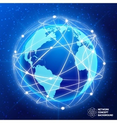 Network globe concept vector image vector image