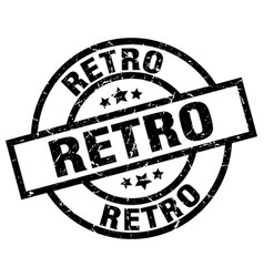 Retro round grunge black stamp vector