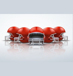 sport background with american football helmets vector image
