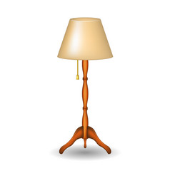 stand lamp in retro design with shadow vector image vector image