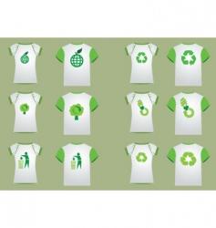 t-shirt recycler women men vector image vector image