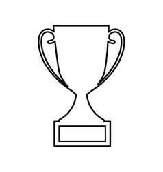 Trophy first place isolated icon vector
