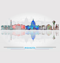 washington city background vector image vector image