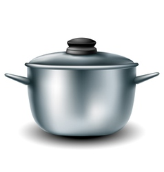Cooking metal pan vector image