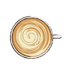 Coffee cup cappuccino beverage vector