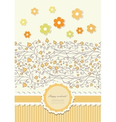 Autumn background with lace vector image