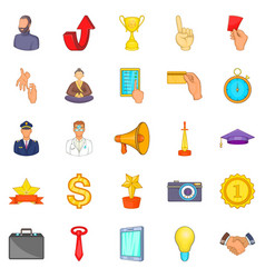 Administration icons set cartoon style vector