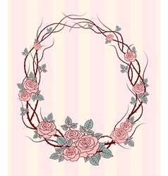 Roses frame round vector