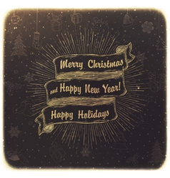 Vintage christmas background vector