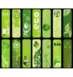 Ecology banners vector
