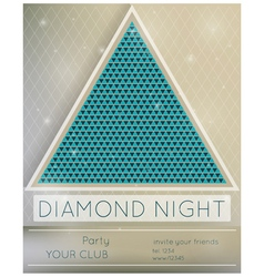 Party diamond night vector