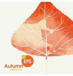 Simple autumn background vector