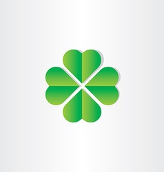 green clover luck st patrick symbol vector image