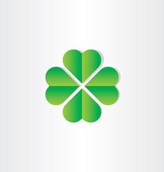 Green clover luck st patrick symbol vector