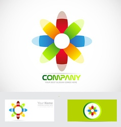 Colored flower abstract logo vector