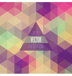 Retro background with triangles vector