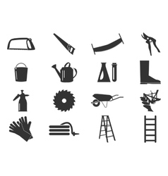 Gardening tools collection vector