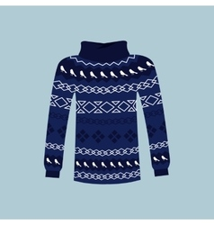 Winter warm sweater handmade svitshot jumper vector