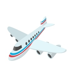 Passenger airplane cartoon icon vector