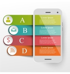 Infographics mobile concept vector
