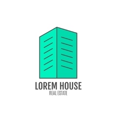 House logo design real estate icon vector