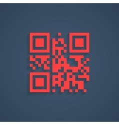 Encrypted lorem ipsum text in red qr code vector