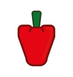 Pixel pepper icon healthy food design vector