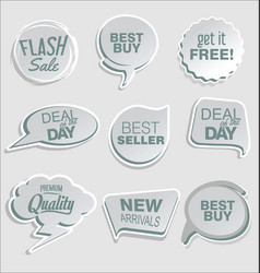 Abstract modern sticker collection 4 vector