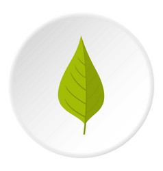 Apple tree green leaf icon circle vector