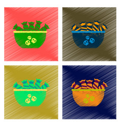 assembly flat shading style icon halloween candy vector image