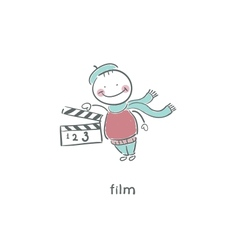 Blank Film slate or clapboard vector image