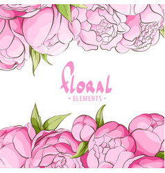 bright floral template vector image vector image