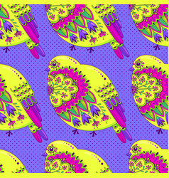 Bright multicolored seamless pattern with birds vector