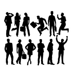 Business people activity silhouettes vector
