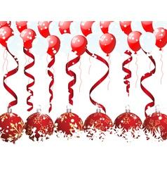 christmas frame vector image vector image
