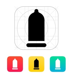 Condom and contraception icon vector