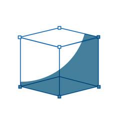 Cube 3d graph design element vector