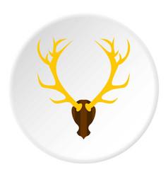 Deer antler icon circle vector