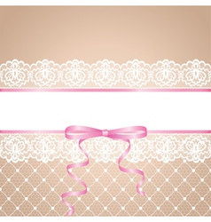 garter and stocking of bride vector image vector image