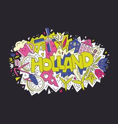 Holland concept vector