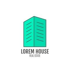 House logo design real estate icon vector