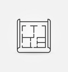 house plan icon vector image vector image