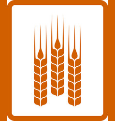 Icon with wheat ears vector