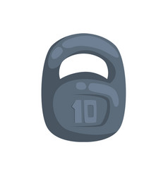 kettlebell weight 10 kilogram cartoon vector image