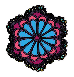 Mandala flower design vector