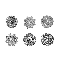 Mandala round ornament vintage decorative element vector