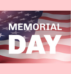 Memorial day poster with flag of united states vector