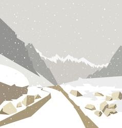 Mountain winter landscape vector