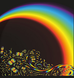 Pattern on the background with a rainbow vector