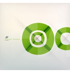 Rings geometric shapes abstract background vector